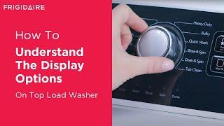 Understanding Your Washer Display