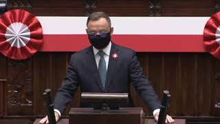 KONSTYTUCJA 3 MAJA Prezydent Andrzej Duda wystąpienie z 3 maja 2021r. z udziałem Prezydentów Polski i Litwy