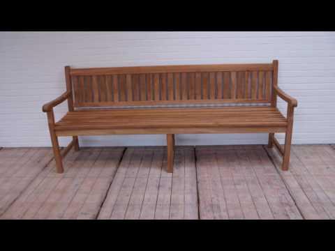 TEAKBANK 210cm voor uw tuin of terras - loungeset.com