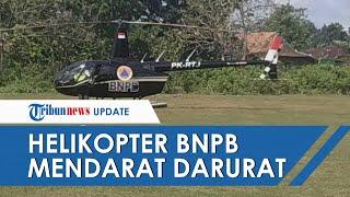 Helikopter BNPB Terbang ke Surabaya Mendarat Darurat di Lapangan Grobogan karena Masalah Navigasi