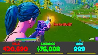 I EXPOSED **EARNINGS** from Fortnite Players... (earnings check)