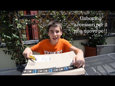 Unboxing accessori e monitor per il nuovo pc