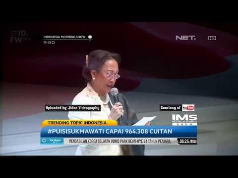 Trending Topic Indonesia -  PUISI SUKMAWATI CAPAI 964.308 CUITAN