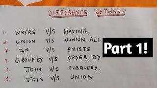 """SQL """"difference between"""" interview questions (part 1)"""