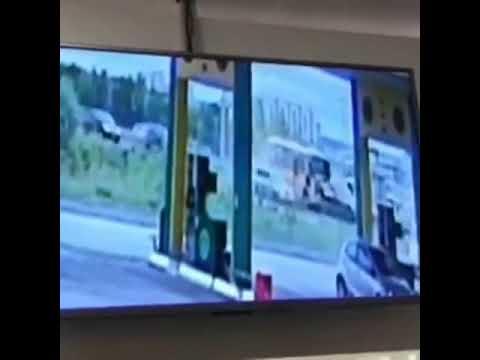 Появилось видео ДТП, устроенное пьяным автобусником