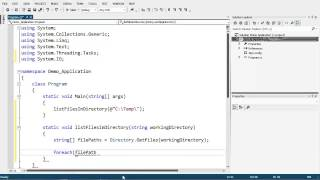 Listing of Files within a Directory using C#