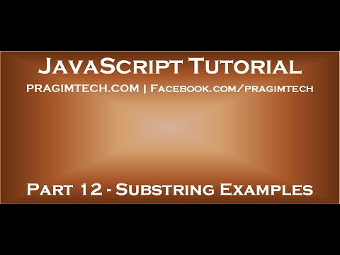 JavaScript substring example