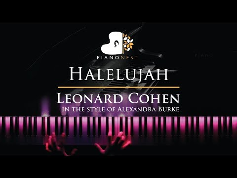 Halelujah - Leonard Cohen, in the style of Alexandra Burke - Piano Karaoke Instrumental with Lyrics