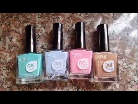 DOLLAR TREE KISS GEL NAIL POLISH REVIEW!💓🎉 May 31, 2017
