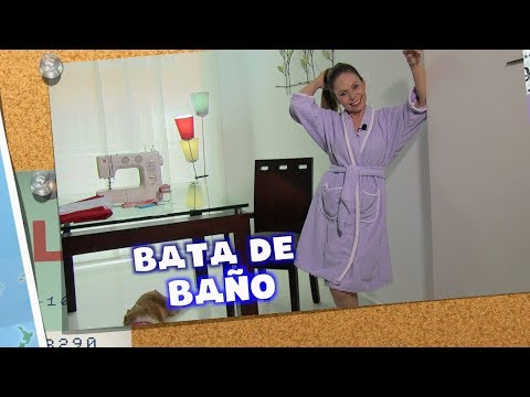 DIY Bata de Baño - bathrobe- Omaira tv