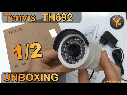 Unboxing: Tenvis TH692 / HD Wireless Outdoor IP Kamera mit Nachtsicht LED / 2-Wege Sound / eMail FTP