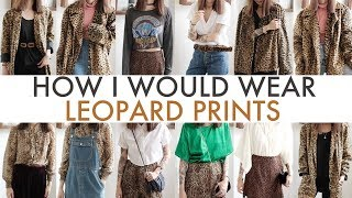 HOW I WOULD WEAR   Leopard Prints From The Ukay-Ukay