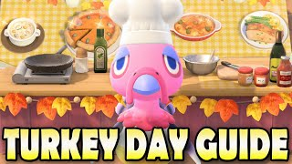 🦃 RECIPES, SECRET INGREDIENTS, REWARDS & MORE! Turkey Day Guide for Animal Crossing New Horizons