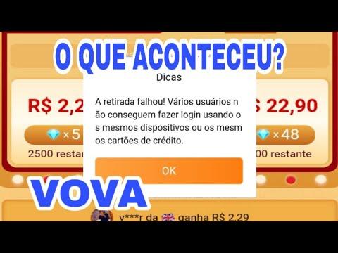 A RETIRADA FALHOU! Aplicativo Vova erro no Saque para Conta Paypal \Money no Paypal/