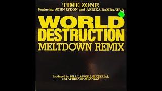 "TIME ZONE - World Destruction (Radio edit) - 1984 Vinyl 12"" Single"