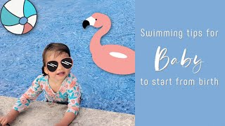 Teaching Babies To Swim | 4 Tips To Help Babies Get Comfortable In The Water