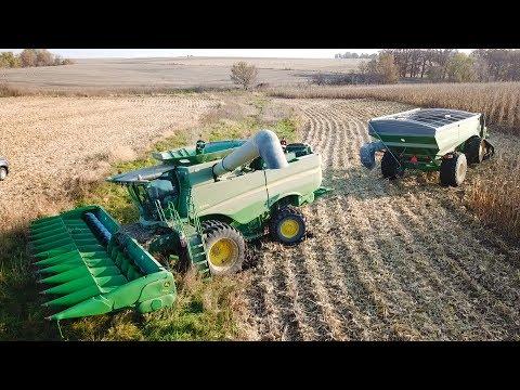 2018 Iowa Corn Harvest & Stuck Combine John Deere S660