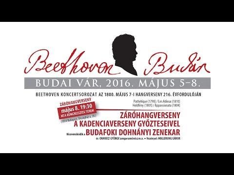 Beethoven Budán 2015 - Záróhangverseny a kadenciaverseny győzteseivel - Kiss Péter - video preview image