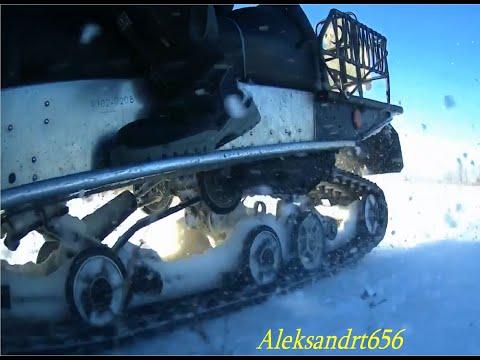 Снегоход рысь с двигателем лифан 24!!! Небольшие тесты рыси по мокрому снегу и подъёмы в гору!!!