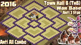 [TOP 3] Coc Th8 war base 2016. Town Hall 8 Anti 3 Star Clash of clans