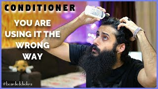 Conditioner Kaise Use Kare - Correct Way To Use A Conditioner | Bearded Chokra