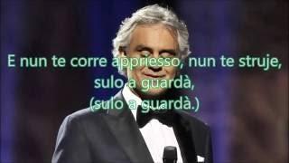 🇮🇹🌫🎵Funiculi funicula | Andrea Bocelli | Vidéo en Lyric HD | Edouard Zexal 38 | 2016🎵🌫🇮🇹
