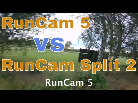 RunCam 5 vs RunCam Split 2 - Raw video and audio comparison