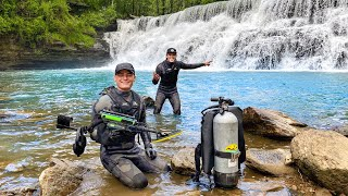 What Will We Find Underneath A Waterfall? (Scuba Diving)
