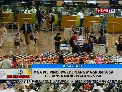 BT: Mga Pilipino, pwede nang magpunta sa 63 bansa nang walang visa