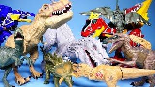 Jurassic World 쥬라기 월드 공룡, 파워레인저 다이노포스 장난감 Dinosaurs & Dino Charge toys
