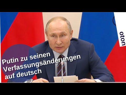 Putin zu seinen Verfassungsänderungen auf deutsch [Video]