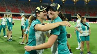 Darlington, McGrath receive T20I caps No.55 and 56 | Australia v India 2021