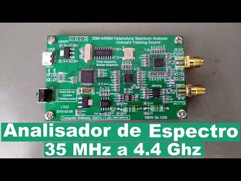 Analisador de Espectro 35 MHz a 4.4 GHz com Gerador de Tracking (Banggood)