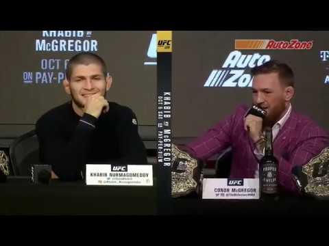 Highlights de la conférence de presse de l'UFC 229 entre Khabib et McGregor