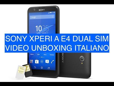 Sony XPeria E4 Dual Sim, Video unboxing, primo avvio e prime impressioni