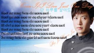 (KARAOKE) Even If I Live Just One Day 단 하루를 살아도 Jo Hyun Jae (HD Instrumental)
