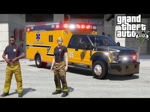 GTA 5 Firefighter / Paramedic Mod - New Vinewood Hills Fire