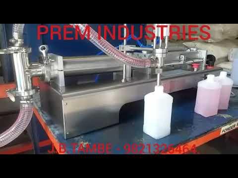 Sanitizer Filling Machine.