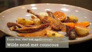 Gebraden wilde eend met couscous en wortel