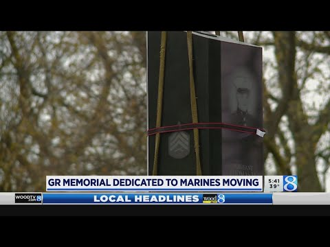 Work starts to move Marine memorial in Grand Rapids