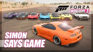 Forza Horizon 3 - Simon Says! (Mini Games & Random Fun)