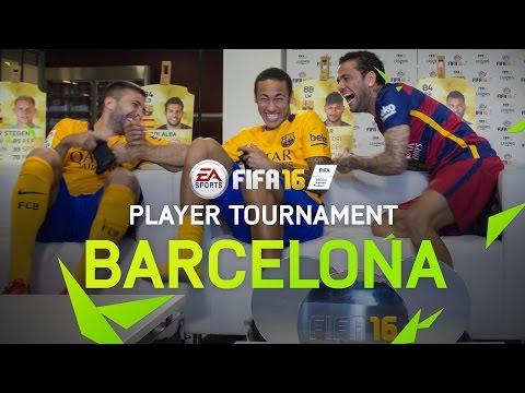 FIFA 16 - FC Barcelona Player Tournament - Neymar, Alves, Alba, Turan, Ter Stegen, Bravo