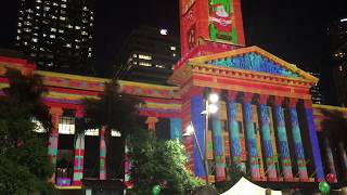 Brisbane City Hall Lights (Light Show Spectacular) 2017