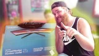 """Samsung CF396 27"""" Curved Gaming Monitor (Unboxing & Test)"""
