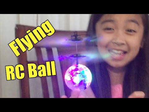 Fun! Flying RC Ball with LED Flashing Light, EpochAir Mini Aircraft Helicopter