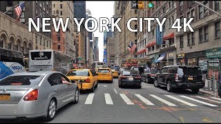 Driving Downtown - Times Square 4K - New York City USA