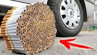 EXPERIMENT: CAR VS 1000 CIGARETTES
