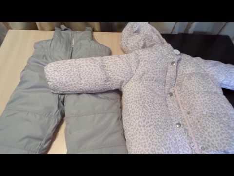 Замеры зимнего комбинезона и курточки Картерс для девочки в размер 3т