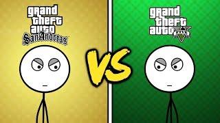 GTA San Andreas Gamers VS GTA V Gamers