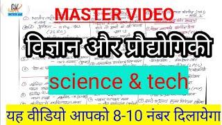 Science and technology| विज्ञान और प्रौद्योगिकी@Master video for-mppsc,ssc, railway, CGPSC